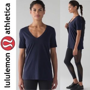 Lululemon Love V Neck Tee Shirt IV Midnight Navy 8